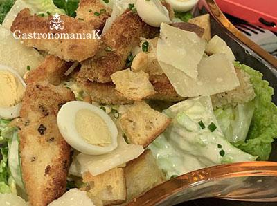 La recette de la véritable salade César (Caesar Salad dans le texte !)
